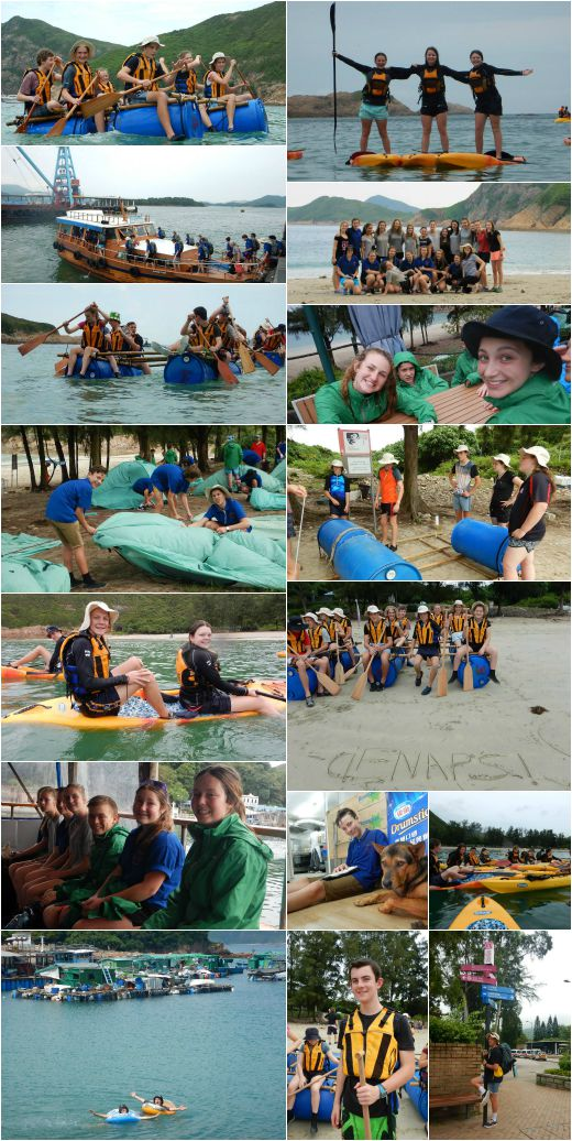 VYLC students raft building, kayaks and visiting a fishing village in China