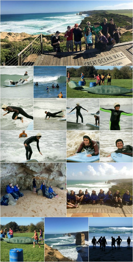 Term 2, 2016 - Surfing, Great Ocean Rd Walk, and On-Campus Rest Day Activities