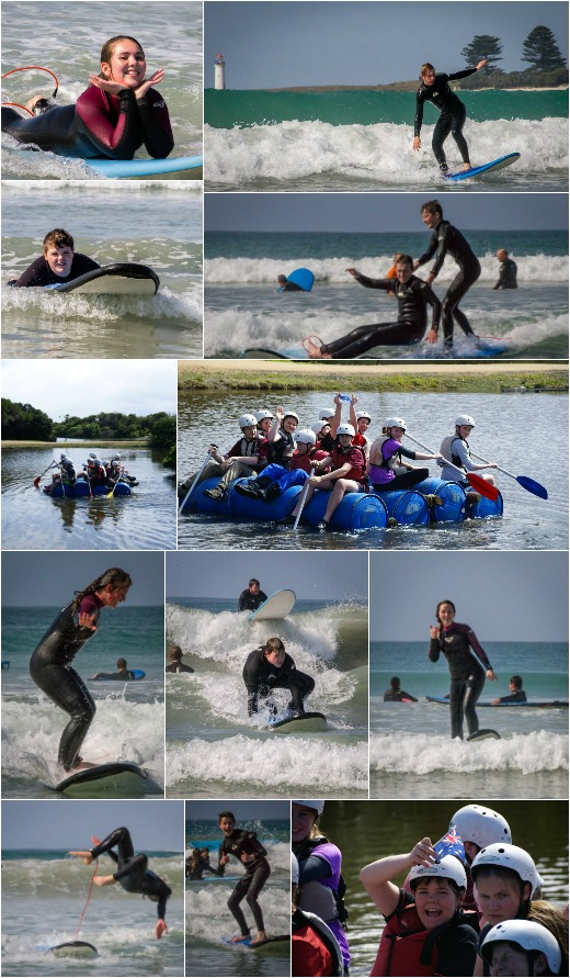 Term 3, 2016 - Surfing and Rafting